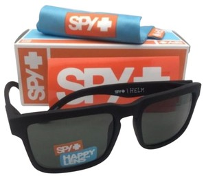 Spy New SPY OPTIC Sunglasses HELM Soft Matte Black Frame w/ Grey-Green