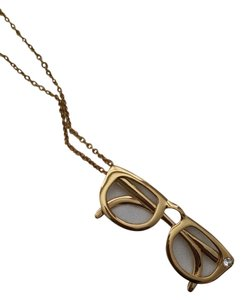 Kate Spade Kate Spade Hang In There Glasses Long Gold Necklace