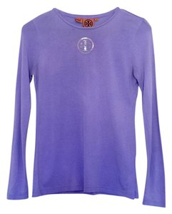 Tory Burch Cotton Logo T Shirt Violet