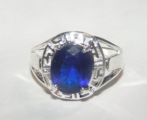 Blue Zircon Right Hand Fashion Ring Free Shipping