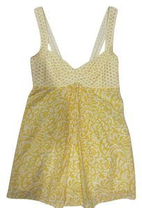 Cynthia Steffe Silk Top Yellow