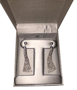 Zales Silver Chrystal Earrings