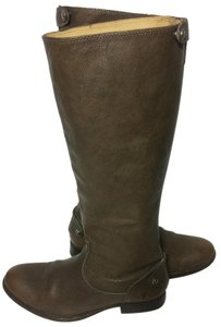 Frye 76430 Melissa Melissa Button Back Zip 9.5 Brown Boots