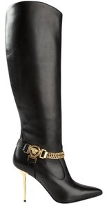 Versace Leather Boot Black Boots