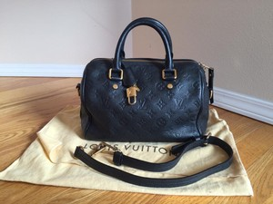 Louis Vuitton Speedy Leather Shoulder Bag