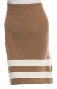 Edun New Knit Ribbed Mini Skirt Camel