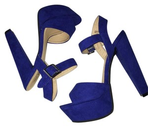 Call It Spring Royal blue Platforms