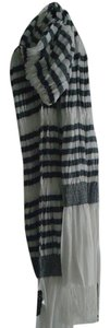 Sarajane Nautical Striped lightweight cotton scarf with tassels