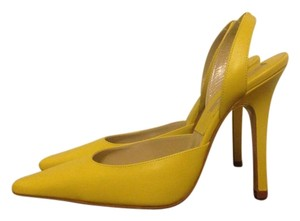 Michael Kors Collection Slingback Yellow Pumps