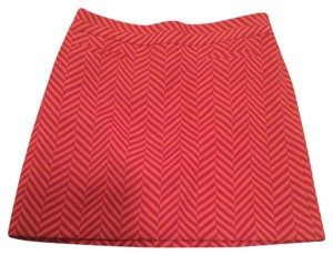 Ann Taylor LOFT Mini Skirt Pink/orange