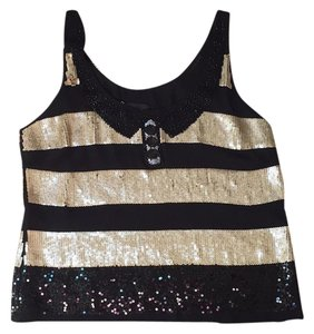 Corey Lynn Calter Top Black and Gold