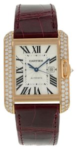Cartier Cartier,Tank,Anglaise,Wt100016,18k,Rose,Gold,Diamonds,Automatic,Mens,Watch