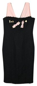 Moschino New Boucle Black Patchwork Dress