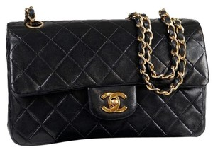 Chanel Lambskin Double Flap Quilted Classic 255 Shoulder Bag