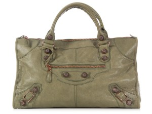 Balenciaga Distressed Rggh Bg.k0819.08 Green Satchel