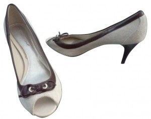 Predictions Beige and Brown Pumps