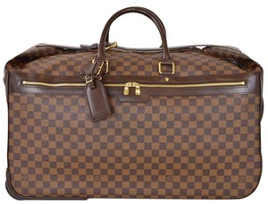 Louis Vuitton Duffle Suitcase Rolling Travel Weekend Brown Travel Bag