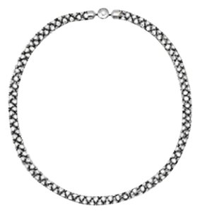 Michael Kors Nwt Michael Kors Silver Tone Crystal Tubular Necklace 18