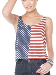 Brandy Melville Top Red, White, Blue