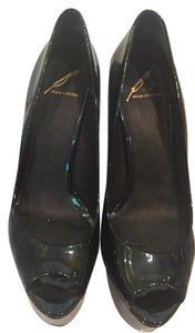 B Brian Atwood Opalescent Black Platforms