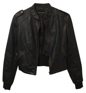 Poetry Vegan Leather Leather Jacket