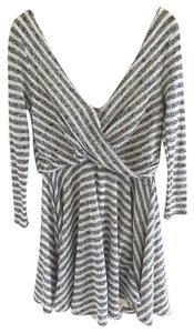 Free People short dress Black and white Knit Striped on Tradesy