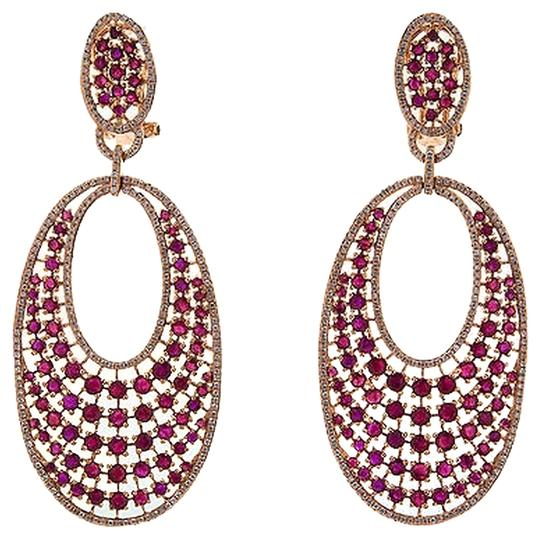 Other Gorgeous,18kt,Yellow,Gold,Red,Sapphire,1.275,Ct,Diamond,Earrings