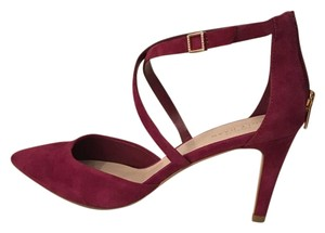 Cole Haan Suede Pointed Toe Burgundy Pumps