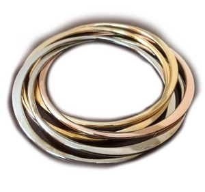 Shop One Twenty Tri Tone Intertwined Bracelets