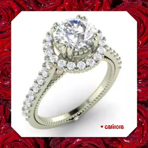 New 1.15ct Vintage Style Solitaire & Accents Ring 7