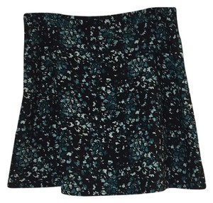 Ann Taylor LOFT Skirt Black, Green, White Floral