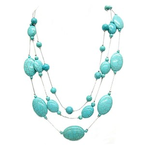 Shop One Twenty Triple Strand Turquoise Station Necklace