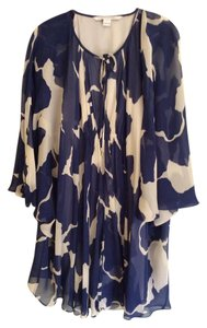 Diane von Furstenberg short dress Navy and Ivory on Tradesy
