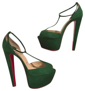 Christian Louboutin Green Pumps