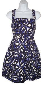 Shoshanna short dress Fit & Flare Ikat Cotton Mini Sleeveless on Tradesy