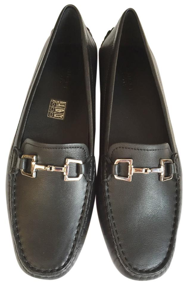 c17ebc0b19b Gucci Black Silver Women s Loafer Driving Moccasin Leather Flats ...