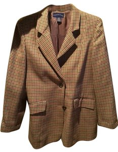 Charter Club Plaid Biege Blazer