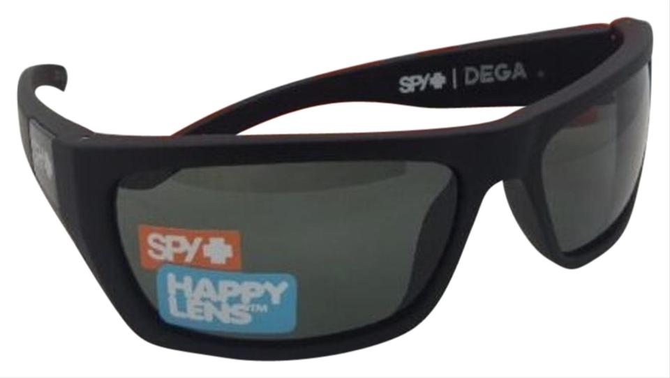 34bcd27e7f Spy New SPY OPTIC Sunglasses DEGA Soft Matte Black Frame w  Grey Green ...