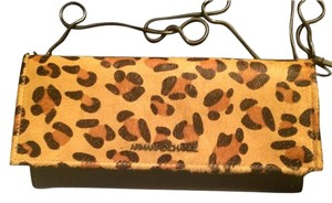 A|X Armani Exchange Black/Leopard Clutch