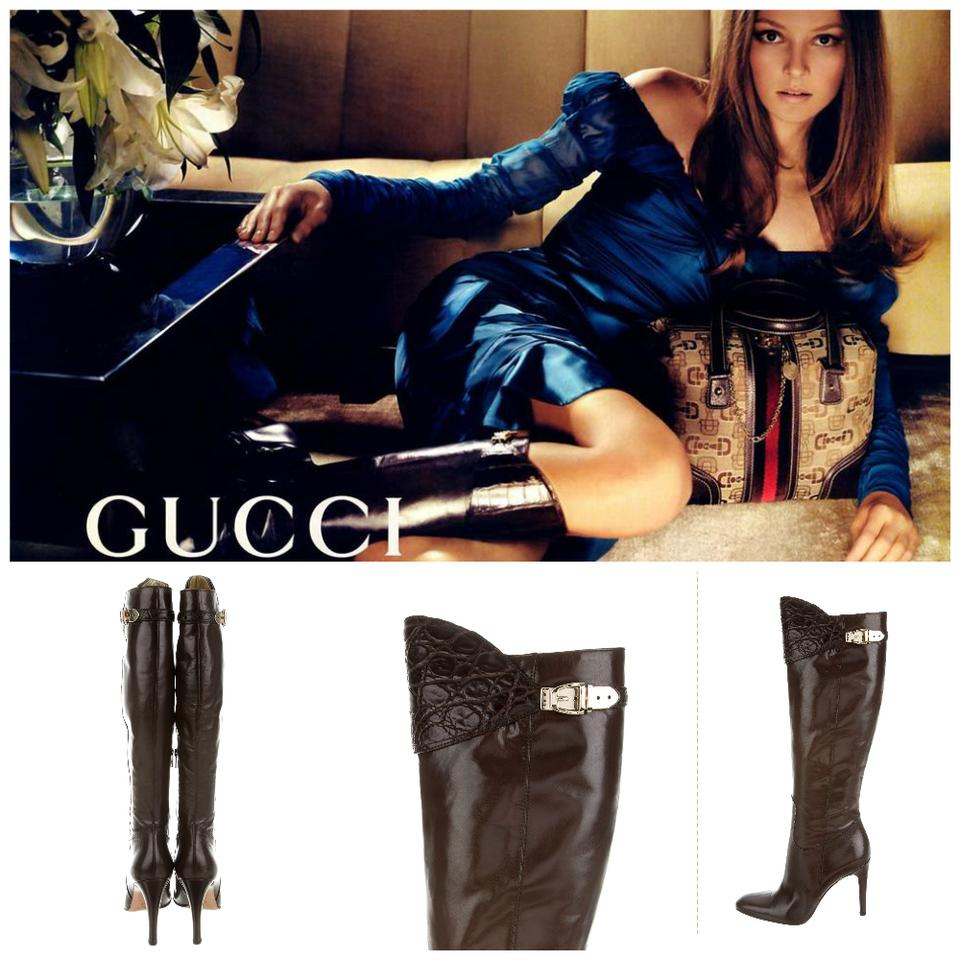 9cdd5c0de Gucci New Rare Tom Ford Era Highly Coveted Leather Alligator Boots ...