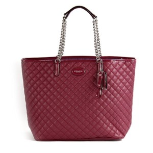Coach Tote in Cranberry