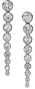 Michael Kors Nwt Michael Kors Silver Tone Park Avenue Multi Stone Drop Earrings