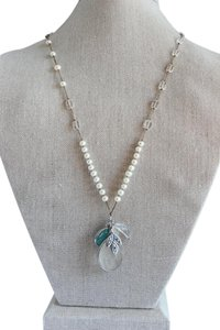 Silpada Silpada Sterling Silver and Pearl Charm Necklace N2108