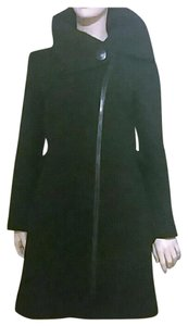 Soia & Kyo Asymmetrical Wool Blend Cowl Neck Heavyweight Warm Pea Coat