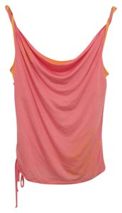 Ted Baker Side Drawstring Flower Accent & Tangerine Top Pink & Orange