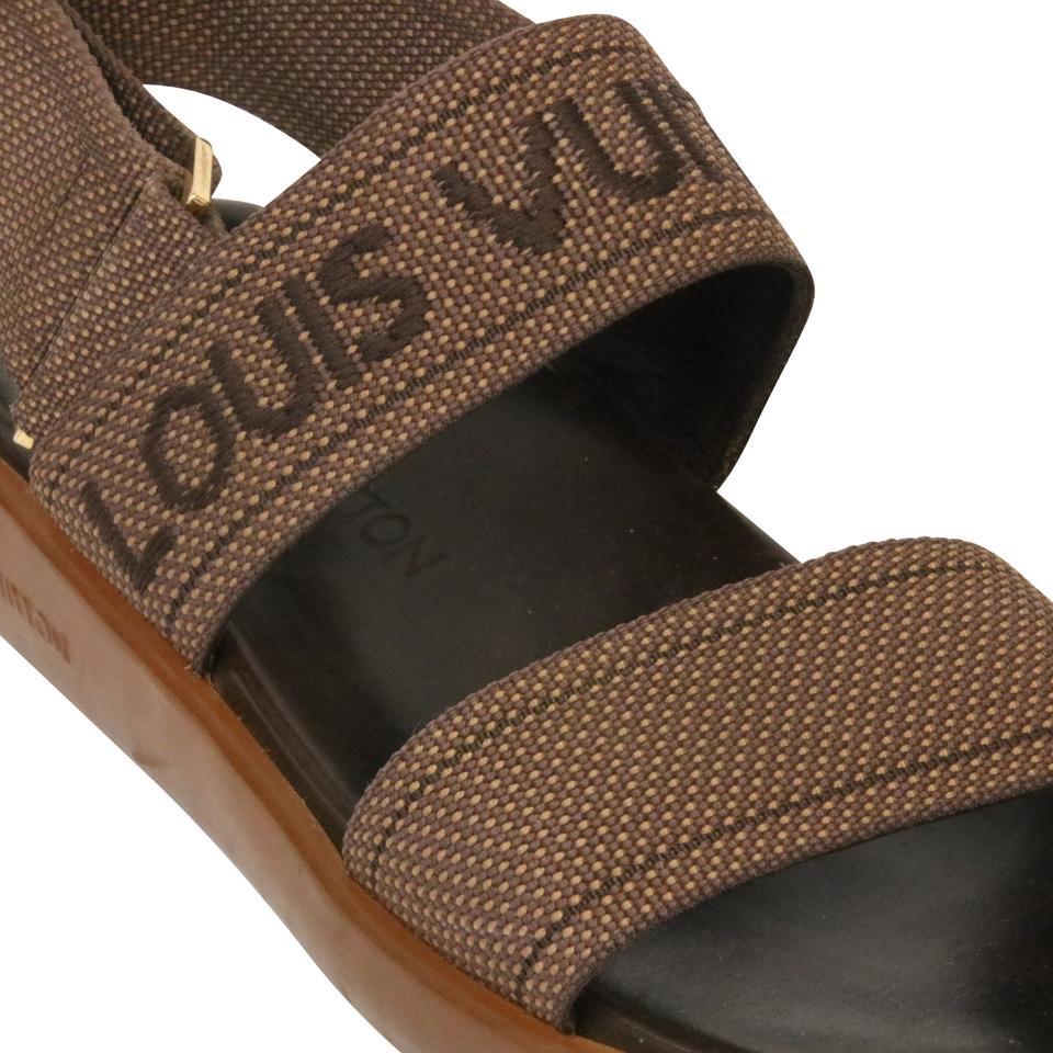 63e5fef890f Louis Vuitton Leather Damier Lv Monogram Birkenstock Brown Sandals Image 9.  12345678910