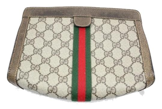Preload https://item4.tradesy.com/images/gucci-pochette-brown-coated-canvas-and-leather-clutch-1980233-0-0.jpg?width=440&height=440