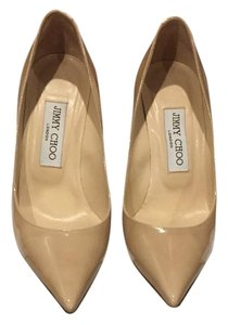 Jimmy Choo Nude Patent Pumps