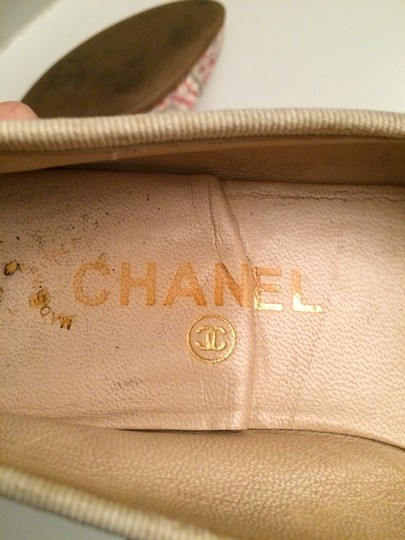 Chanel Pink, Blue, Green, White, Multi Flats