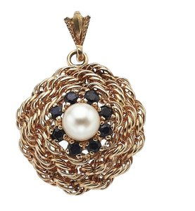 Other Gold Sapphire Cultured Pearl